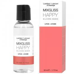 MIXGLISS HAPPY LUBRICANTE SILICONA LITCHI 50 ML - Imagen 1