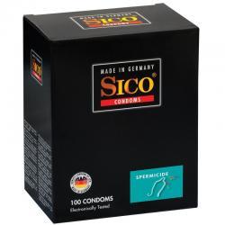 SICO CONDOMS PRESERVATIVOS CON ESPERMICIDA 100 UNIDADES - Imagen 1