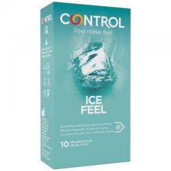 CONTROL ICE FEEL PRESERVATIVOS EFECTO FRIO 10 UNIDADES - Imagen 1