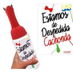 BIBERÓN MEDIANO ESTAMOS DE DESPEDIDA CACHONDA (PENE CUERNOS) - Imagen 1
