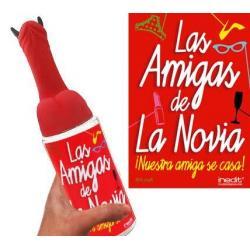 BIBERÓN MEDIANO LAS AMIGAS DE LA NOVIA (PENE CUERNOS) - Imagen 1