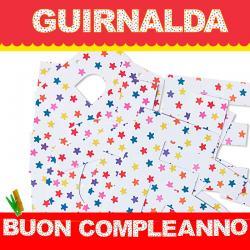 GUIRNALDA BUON COMPLEANNO (Cartulina 220gr) - Imagen 1