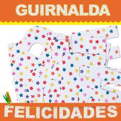 GUIRNALDA FELICIDADES (CARTULINA 220gr) - Imagen 1