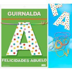 GUIRNALDA FELICIDADES ABUELO (Cartulina 220gr) - Imagen 1