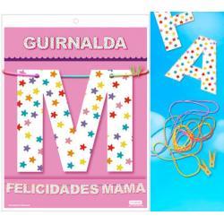 GUIRNALDA FELICIDADES MAMA (Cartulina 220gr) - Imagen 1