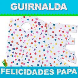 GUIRNALDA FELICIDADES PAPA (Cartulina 220gr) - Imagen 1