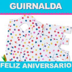 GUIRNALDA FELIZ ANIVERSARIO (Cartulina 220gr) - Imagen 1