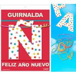 GUIRNALDA FELIZ AÑO NUEVO (Cartulina 220gr) - Imagen 1