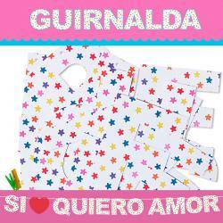 GUIRNALDA SI QUIERO AMOR (CARTULINA 220gr) - Imagen 1