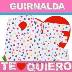 GUIRNALDA TE QUIERO (Cartulina 220gr) - Imagen 1