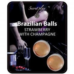 SECRETPLAY SET 2 BRAZILIAN BALLS FRESAS CON CAVA - Imagen 1