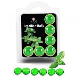 SECRETPLAY SET 6 BRAZILIANS BALLS MENTA - Imagen 1