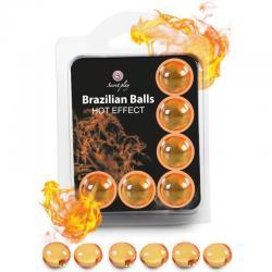 SECRETPLAY SET 6 BRAZILIAN BALLS EFECTO CALOR - Imagen 1