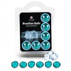 SECRETPLAY SET 6 BRAZILIAN BALLS EFECTO FRIO - Imagen 1