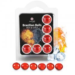 SECRETPLAY SET 6 BRAZILIAN BALLS EFECTO FRIO Y CALOR - Imagen 1