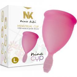 NINA CUP COPA MENSTRUAL TALLA L ROSA - Imagen 1