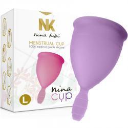 NINA CUP COPA MENSTRUAL TALLA L LILA - Imagen 1