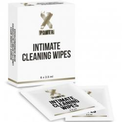 XPOWER INTIMATE CLEANING WIPES TOALLITAS LIMPIEZA INTIMA 6 UNIDADES - Imagen 1