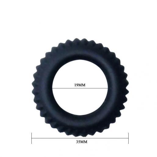 BAILE TITAN COCKRING BLACK 1.9CM - Imagen 4