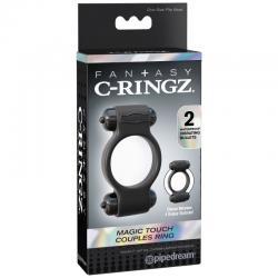 FANTASY C-RINGZ MAGIC ANILLO DOBLE SILICONA VIBRADOR NEGRO - Imagen 6