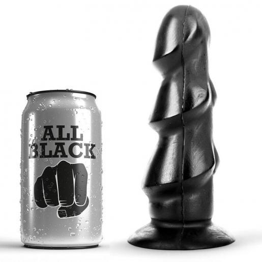 ALL BLACK DILDO 17CM - Imagen 1