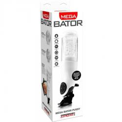 PDX MEGA BATOR USB MASTURBADOR MASCULINO VAGINA BLANCO - Imagen 2