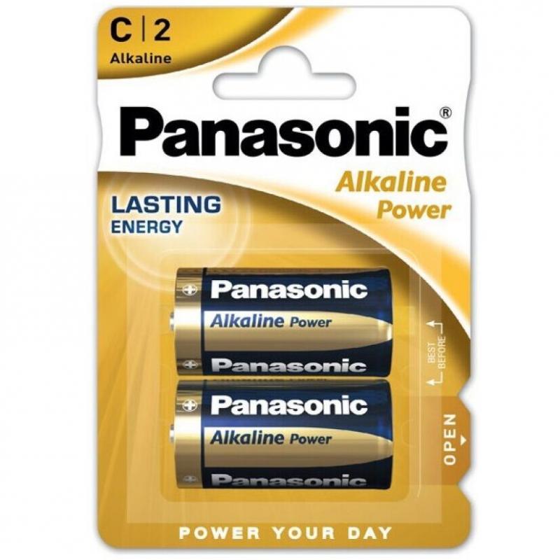 PANASONIC BRONZE PILA ALKALINA C LR14 BLISTER*2 - Imagen 1