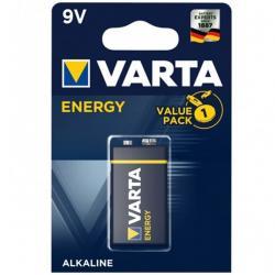 VARTA ENERGY PILA ALCALINA 9V LR61 BLISTER*1 - Imagen 1