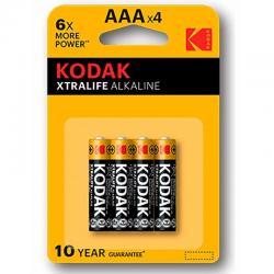 KODAK XTRALIFE PILA ALCALINA AAA LR03 BLISTER*4 - Imagen 1