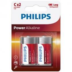 PHILIPS POWER ALKALINE PILA C LR14 BLISTER*2 - Imagen 1