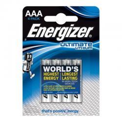 ENERGIZER ULTIMATE LITHIUM PILA LITIO AAA L92 LR03 1,5V BLISTER*4 - Imagen 1
