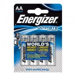 ENERGIZER ULTIMATE LITHIUM PILA LITIO AA L91 LR6 1,5V BLISTER*4 - Imagen 1