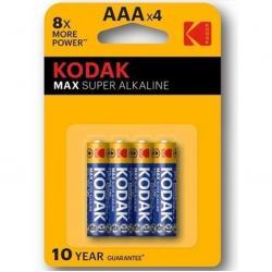 KODAK MAX SUPER PILA ALCALINA AAA LR03 BLISTER*4 - Imagen 1