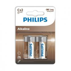 PHILIPS ALKALINE PILA C LR14 BLISTER*2 - Imagen 1